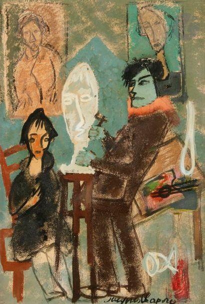 Valentine SHAPIRO (née en 1948) L'Atelier...