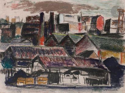 Willy EISENSCHITZ (1889-1974) Paysage urbain...