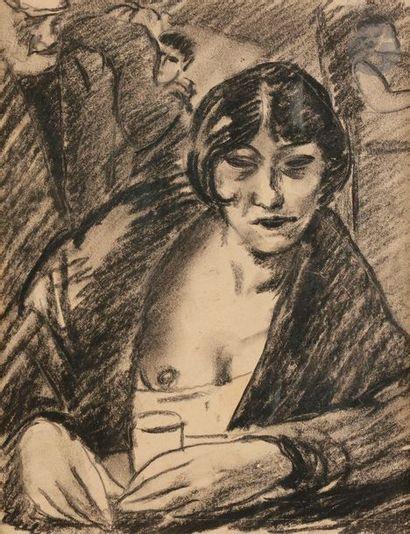 François EBERL (1887-1962) L'Absinthe, vers...