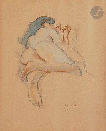 J. Pincas dit PASCIN (1885-1930) Nu endormi,...
