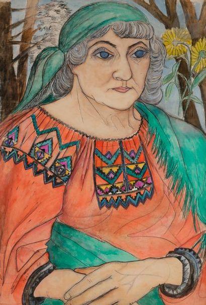 *Marika RIVERA (1919-2010) Portrait de Marevna,...