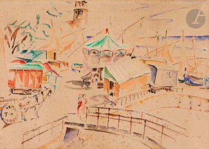 Mela MUTER (1876-1967) Collioure, le fête...