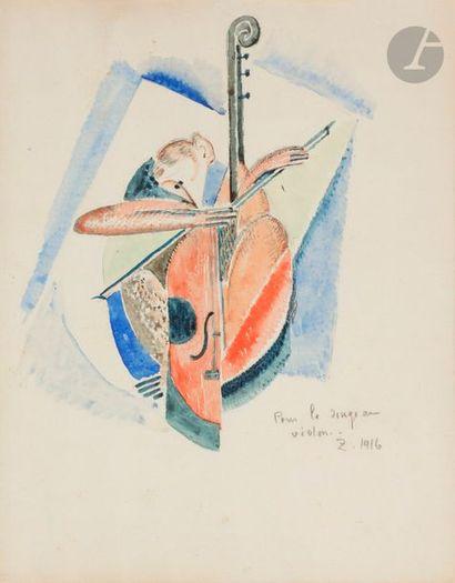 Angel ZARRAGA (1886-1946) Pour le singe au...