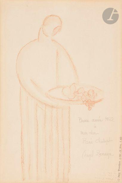 Angel ZARRAGA (1886-1946) Femme à la corbeille...