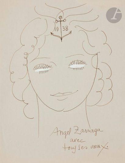 Angel ZARRAGA (1886-1946) Portraits de femme,...