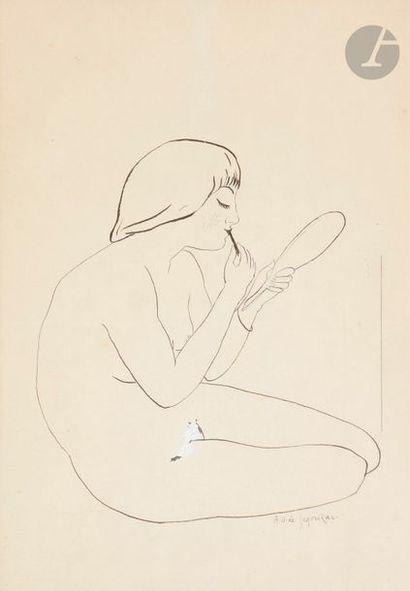 André DUNOYER DE SEGONZAC (1884-1974) Jeune...