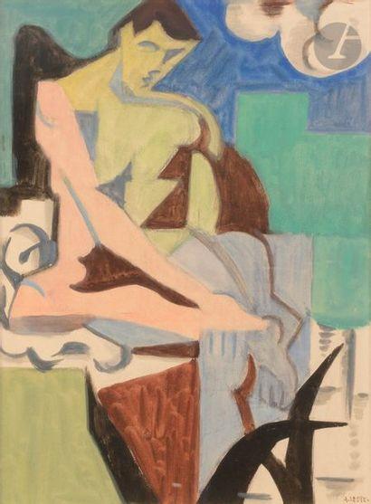 André LHOTE (1885-1962) Achille, 1917 Gouache....