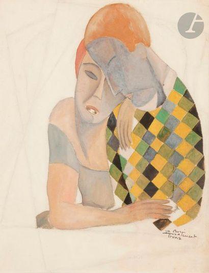 Pedro PRUNA (1904-1977) Le Couple Aquarelle...