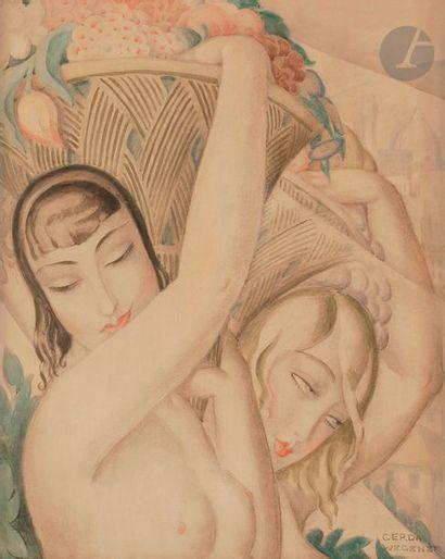 Gerda WEGENER (1885-1940) Femmes aux paniers...