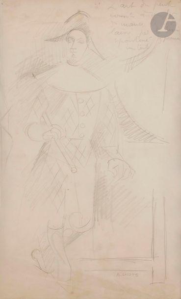 André LHOTE (1885-1962) Arlequin Mine de...