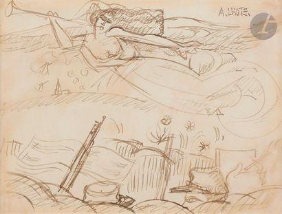 André LHOTE (1885-1962) La Renommée chante...