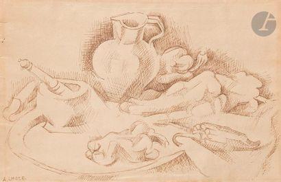 André LHOTE (1885-1962) Nature morte Encre....