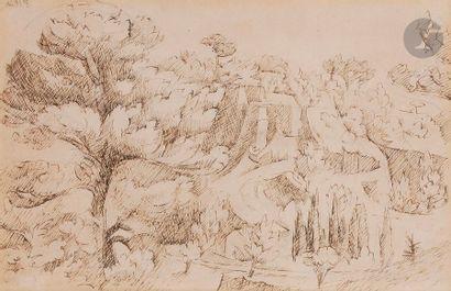André LHOTE (1885-1962) Paysage du Vaucluse...
