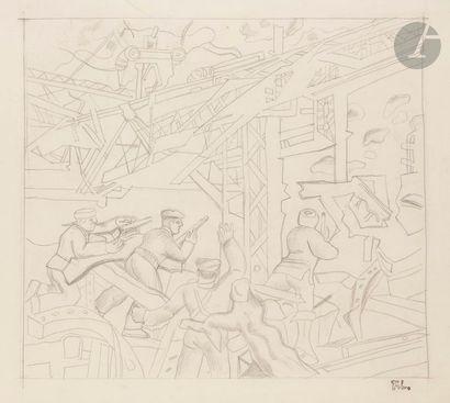 Fernand LéGER (1881-1955) Étude pour Stalingrad,...