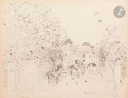 Raoul DUFY (1877-1953) Le Départ des cavaliers...