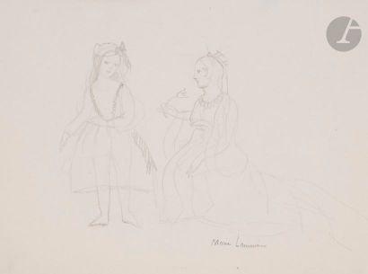 Marie LAURENCIN (1885-1956) Alice et la reine,...