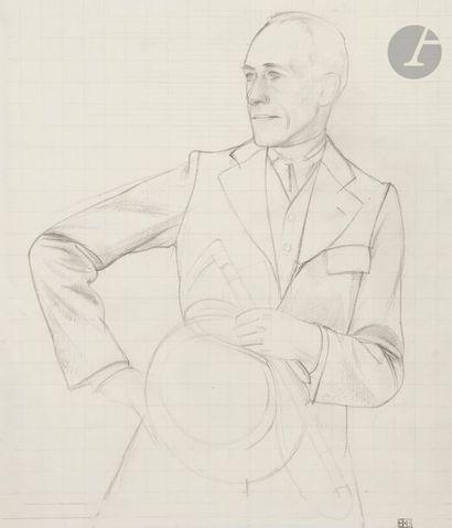Bernard BOUTET DE MONVEL (1884-1949) Autoportrait...