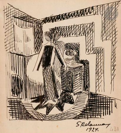 Sonia DELAUNAY-TERK (1885-1979) Femme dans...