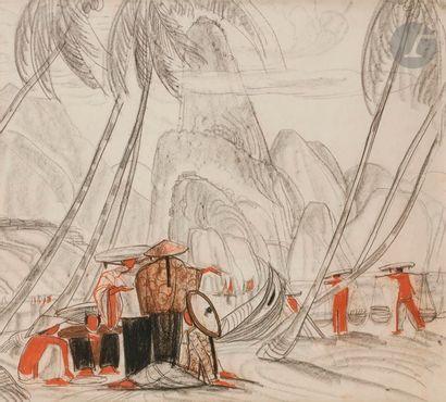 André MAIRE (1898-1984) Vietnam, femmes dans...