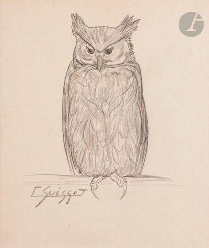 Gaston SUISSE (1896-1988) Grand-duc Crayon....