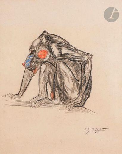 Gaston SUISSE (1896-1988) Grivet Pastel et...