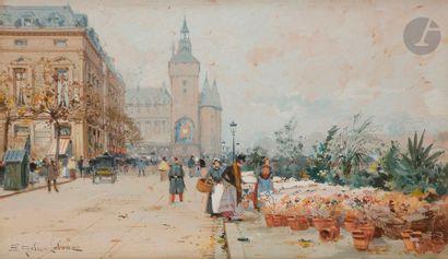 Eugène GALIEN-LALOUE (1854-1941) Le Marché...