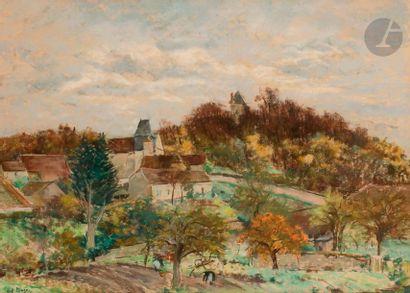 Paul Lucien MAZE (1887-1979) Village Pastel....