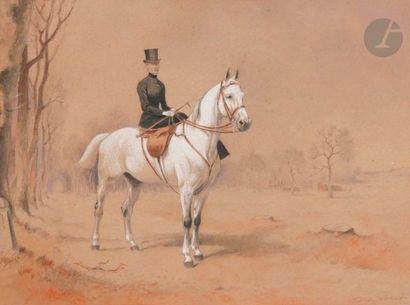 Xavier de PORET (1894-1975) Cavalier Trois...
