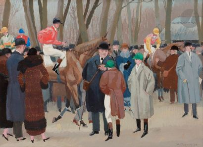 Maurice TAQUOY (1878-1952) Aux courses, 1923...
