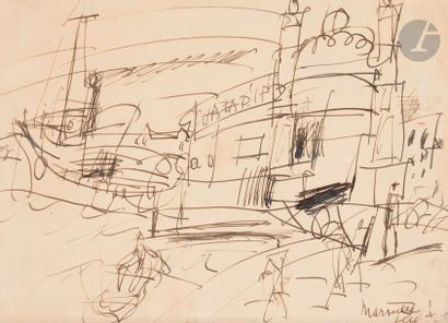 GEN-PAUL (1895-1975) Marseille Encre. Signée...