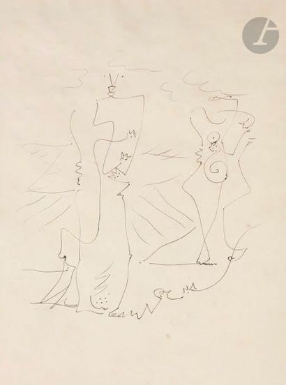 André MASSON (1896-1987) Dessin automatique,...