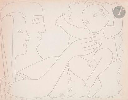 Françoise GILOT (née en 1921) La Famille,...