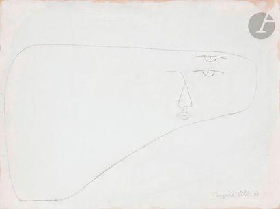 Françoise GILOT (née en 1921) Tête volante,...
