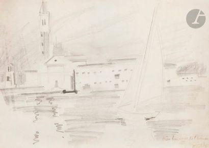 Françoise GILOT (née en 1921) Paysage au...