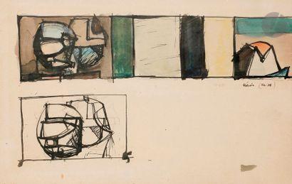 Jean HÉLION (1904-1987) Étude, 1938 Encre...