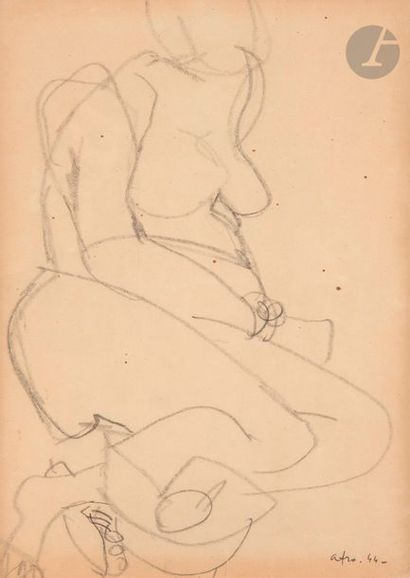 Afro Basaldella dit AFRO (1912-1976) Nu féminin,...
