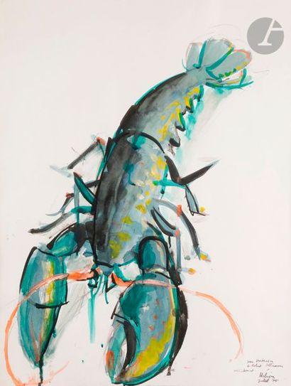 Jean HÉLION (1904-1987) Homard, 1975 Aquarelle...