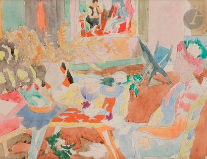 Raymond LEGUEULT (1898-1971) Femme assise...