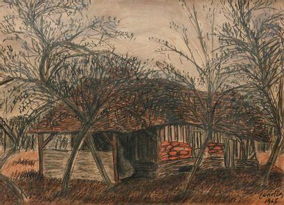 Henri LANDIER (né en 1935) Maison sous les...