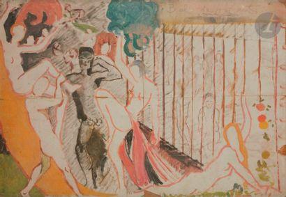 Charles-Carl GESMAR (1900-1928) Bal des 4'Zarts...