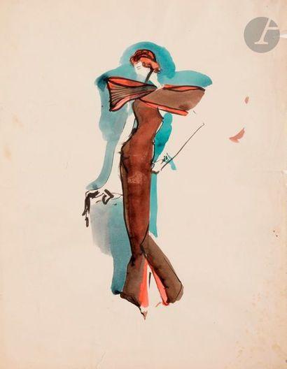 Christian BÉRARD (1902-1949) Étude de modèle...