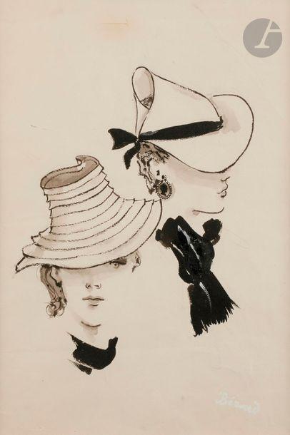 Christian BÉRARD (1902-1949) Étude de chapeau...