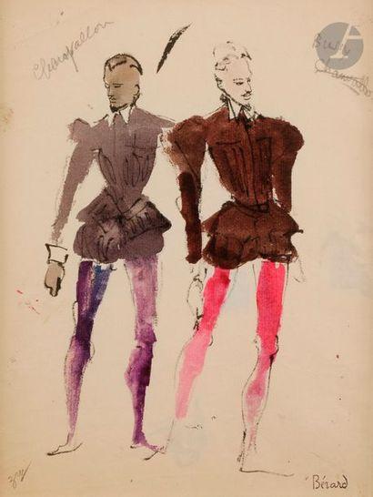 Christian BÉRARD (1902-1949) Étude de costume...
