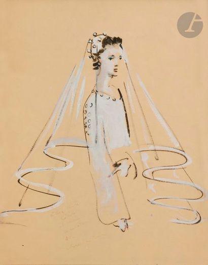 Christian BÉRARD (1902-1949) La Mariée Encre...