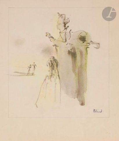 Christian BÉRARD (1902-1949) Le Sphinx Gouache....
