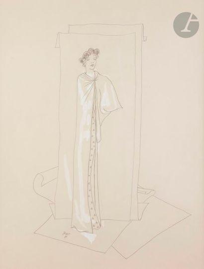 Jean COCTEAU (1889-1963) Modèle de la robe...