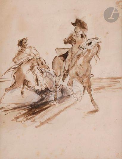 Eugène DELACROIX (1798-1863) Le Fermier dans...