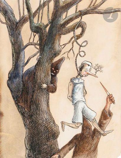 Roland TOPOR (1938-1997) Pinocchio, 1995...