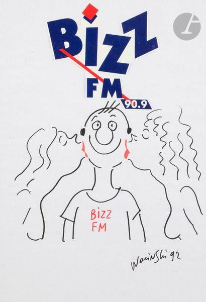 Georges WOLINSKI (1934-2015) Bizz FM, 1992...