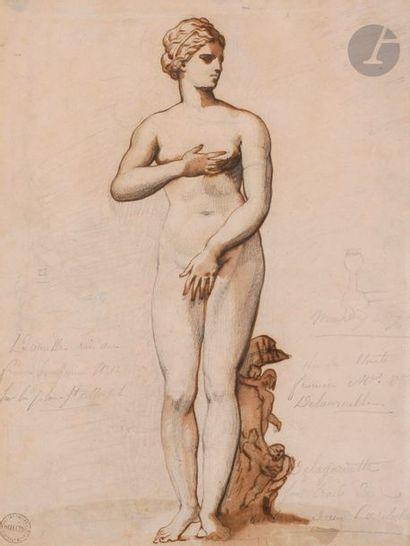 Théodore GéRICAULT (1791-1824) La Vénus de Médicis, vers 1812 Plume et encre brune,...